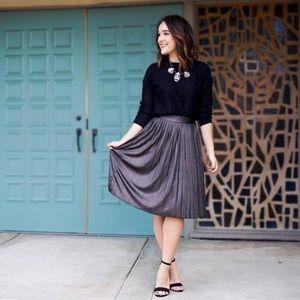 Metallic Accordion Skirt